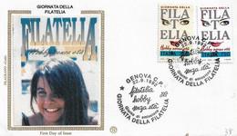 Fdc Filagrano Gold: GIORNATA DELLA FILATELIA (1992); No Viaggiata; AS - F.D.C.