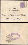 """España - Edi O 270 - Carta Mat """"Amb Asc - 3 - Alcázar - Valencia - Corr"""" A Valencia - Salida De """"Alcudia De Crespins"""" - Cartas"""