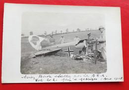CPA PHOTO MASSIGES AVION ALLEMAND ABATTU AOÛT 1918 - Other Municipalities