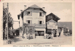 01 - N°110743 - Grilly - Hôtel-Pension J. Favre - Altri Comuni