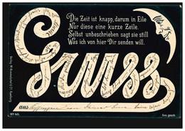 Karikatur-AK GRUSS ... Die Zeit Ist Kanpp, ... BAD KISSINGEN 28.8.98 - Humor