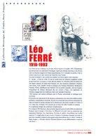 """✅ """" LEO FERRE """" Sur Document Philatélique Officiel De 2016. N° YT 5080. Parfait état. DPO - Documents De La Poste"""