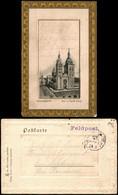 Osnabrück Dom St. Peter, Kleine Kirche 1914 Passepartout  Gel. Felspost - Osnabrueck
