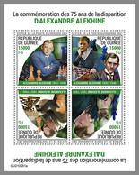 GUINEA REP. 2021 MNH Alexander Alekhine Chess Schach Echecs M/S - OFFICIAL ISSUE - DHQ2123 - Echecs
