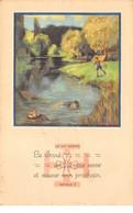 Scoutisme - N°63827 - La Loi Scoute, Article 3 - Le Scout Est Fait Pour Servir ... - Carte Vendue En L'état - Scouting