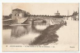 30 Gard Aigues Mortes Le Pont D'artois Et La Tour De Constance N25 - Aigues-Mortes