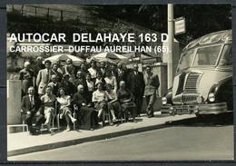 PHOTO AUTOCAR A LOURDES - DELAHAYE 163D 32 PLACES, HABILLE PAR CARROSSIER DUFFAU AUREILHAN (65 ) - PAS COURANT. - Autres
