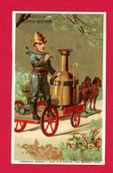 Chocolat Guérin Boutron, Chromo Lith. J. Minot, Pompier, La Pompe - Guerin Boutron