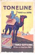 Publicité - N°65241 - Toneline Huile Pour Autos - Carte Pliée Vendue En L'état - Advertising