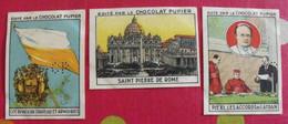 Lot 3 Images Chocolat Pupier. Album Europe 1933. Cité Du Vatican. Carte Drapeau Pie XI Latran - Other