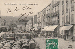 HO 21 - (66) PORT VENDRES - LE QUAI -ATTELAGE DE CHEVAUX -  FUTS  - 2 SCANS - Port Vendres