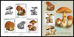 CHAD 2021 - Mushrooms, M/S + S/S. Official Issue [TCH210101] - Mushrooms