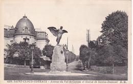 SAINT-CLOUD - COTEAUX - Avenue Du Val De Camus Et Statue De Santos Dumont - Saint Cloud