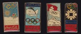 71206-Lot De 4 Pin's.Coca-cola.Jeux Olympiques. - Coca-Cola