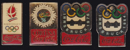 71207-Lot De 4 Pin's.Coca-cola.Jeux Olympiques. - Coca-Cola