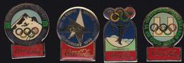 71208-Lot De 4 Pin's.Coca-cola.Jeux Olympiques. - Coca-Cola