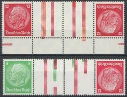 ZUSAMMENDRUCKE KZ 17,19 **, 1933, Hindenburg 5 + Z + Z + 12 Und 12 + Z + Z + 12, Wz. 2, Postfrisch, Pracht, Mi. 100.- - Zusammendrucke