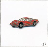 Pin's Automobile - Ferrari / Modèle Dino 206 GT (1968-69). Non Estampillé. EGF. T808-07 - Ferrari