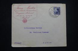 ESPAGNE - Enveloppe Commerciale De Madrid Pour La France En 1930 - L 99115 - Brieven En Documenten