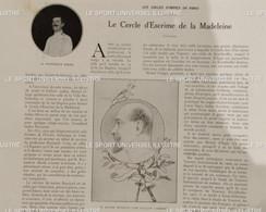 1910 ESCRIME - LE CERCLE D'ESCRIME DE LA MADELEINE - MAITRE REUNAUD - MAITRE FILIPPI - PROFESSEUR PERIER - 1900 - 1949