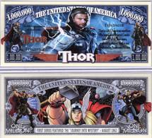 USA 1 Million Dollar Novelty Banknote 'Thor' (Marvel Movie Series) - NEW - UNC & CRISP - Other - America