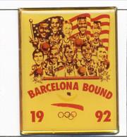 Pin's Sport - Jeux Olympiques / J.O De Barcelone 1992 - Equipe Américaine De Basketball. Epoxy. T810-16 - Olympische Spelen