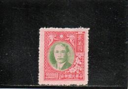CHINE 1947-8 SANS GOMME - 1912-1949 Republic