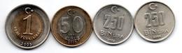 Turquie -  Lot De 4 Monnaies - Turkey