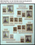 THÜRINGEN 92/3 **,o,Brief,* , Ausstellungssammlung 3 Und 4 Pf. Tannen Im Thüringer Wald, Spezialisiert Nach Papieren, Fa - Sowjetische Zone (SBZ)
