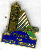 Pin's Voiture Automobile Finale Rallye Régional Arras Pas-de-Calais Beffroi (non Numéroté) - Rallye