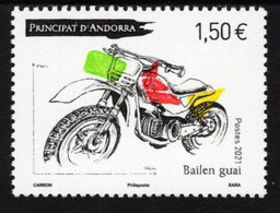 French Andorra - 2021 - Motorcycles - Bailen Guai - Mint Stamp - Unused Stamps