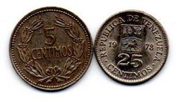 Venezuela Lot De 2 Monnaies - Venezuela