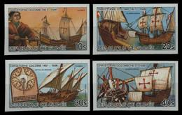 Guinea 1985 - Mi-Nr. 1081-1084 B ** - MNH - Ungez / Imp - Schiffe / Ships - Guinea (1958-...)