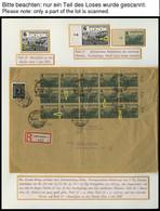 PROVINZ SACHSEN 90/1 Brief,o, *, Spezialsammlung Bodenreform Auf Zigarettenpapier, 2-bändige Interessante Forschungssamm - Sowjetische Zone (SBZ)
