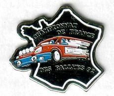 Pin's Voiture Automobile Rallye Championnat De France Des Rallyes 1992 Renault R5 GT Turbo - Rallye
