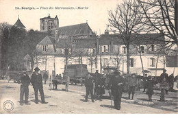 18. N°105807 .bourges .place Des Marronniers .marche .attelage . - Bourges