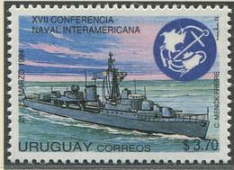 URUGUAY / MiNr. 2028 / 17. Interamerikanische Marinekonferenz / Postfrisch / ** / MNH - Boten