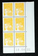 Coin Daté - YT N°3443 - 1c Luquet Du 18/04/01 - 2000-2009