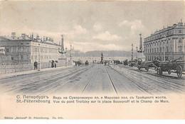 Russie - N°71008 - SAINT-PETERSBOURG - Vue Du Pont Troitzky Sur La Place Souvoroff Et Le Champ De Mars - Rusland