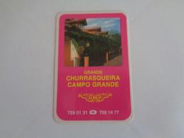 Restaurante Grande Churrasqueira Do Campo Grande Lisboa Portugal Portuguese Pocket Calendar 1988 - Klein Formaat: 1981-90