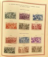 AFR190 8 Feuilles Album Soubayran 1946 Du Tchad Au Rhin - 90 Timbres 1946 Neuf* Séries Complètes - Côte 185€ - 1946 Tchad Au Rhin