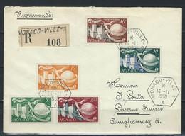 QZ-/-003- BELLE LETTRE VIA LUCERNE (SUISSE) DE 1950, PA N° 46/48 + 332/332A, TTB , VERSO SUR DEMANDE - Usados