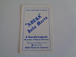 Adega João Maria Monte Da Caparica Almada Portugal Portuguese Pocket Calendar 1992 - Klein Formaat: 1991-00