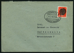 SÄCHSISCHE SCHWÄRZUNGEN AP 786I BRIEF, CHEMNITZ 4 Gebühr Bezahlt, 8 Pf. Auf Brief, Pracht - Sowjetische Zone (SBZ)