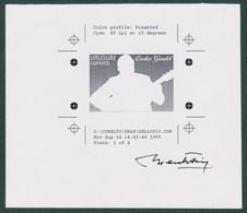 1995 URUGUAY Color Proof And Sketch Gardel Tango Music Musique Musica Guitar -signed Artist Carlos Menck Yv1520 T75-40 - Uruguay