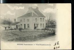 CP ( SPIXHE - Franchimont) Obl. Ambulant Herbesthal - Bruxelles  1906 + Griffe Encadrée De LA REID - Langstempel
