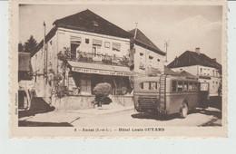 CPA ANOST (71) HÔTEL LOUIS GUYARD  - AUTOCAR DE LA REGIE DE SAÔNE-ET-LOIRE - Other Municipalities