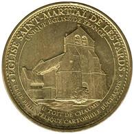 19-1956 - JETON TOURISTIQUE MDP - Eglise Saint-Martial De Lestards - 2015.4 - 2015