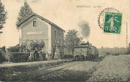 88 - MORIVILLE - La GARE - TRAIN En GARE - CPA En TRES BON ETAT - Altri Comuni