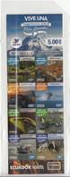 2019 Ecuador Tourism Lago Agrio Turtles Monkeys Trees  Complete Booklet Of 8 MNH - Ecuador